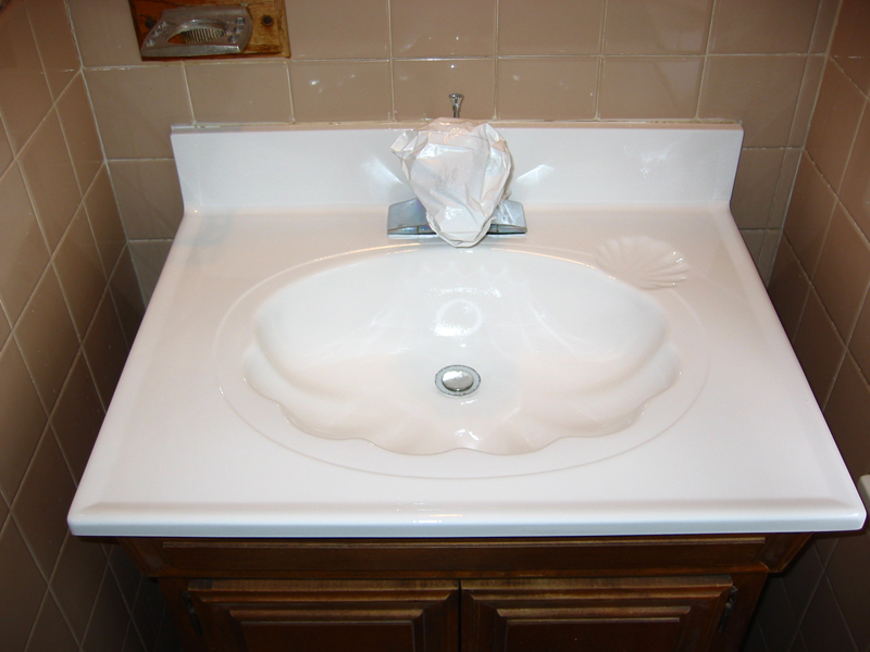 new look refinishing can make all the sinks in your house look like new bathroom sinks kitchen sinks and utility sinks all get discolored and worn over - Kitchen Sink Refinishing