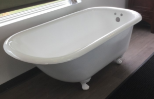 Refinished Old Clawfoot Tub in White