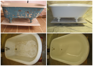 Resurfaced Old Clawfoot Tub